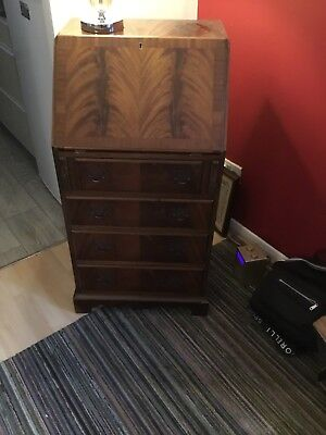 Small mahogany bureau with a lid that needs re attaching