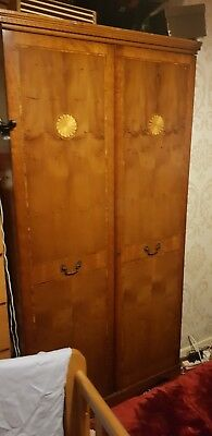 Wardrobe used, solid wood, with hanging rail