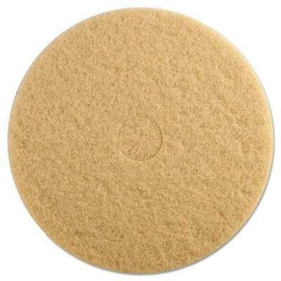 """Premier 4019ULT Ultra High-speed Floor Pads, 19"""" Dia, Champagne, 5/carton"""