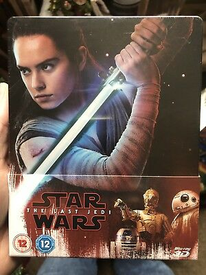 STAR WARS THE LAST JEDI VIII 3D + 2D Blu-ray Zavvi UK Limited Edition STEELBOOK