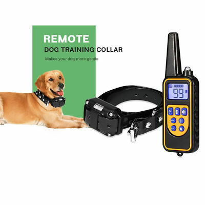 Electric Dog Training Collar Waterproof Rechargeable With Remote Control