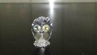 Exquisite Miniature Swarovski Crystal Owl Figure