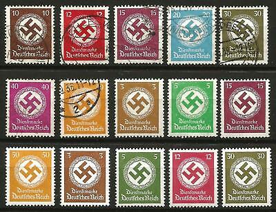 Germany (Third Reich) 1934-1944 MNH Used -Single Officials Swastika State Depts