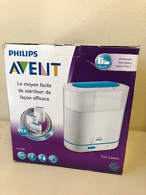 Philips AVENT 3-in-1 Electric Baby Bottle Steam Sterilizer New
