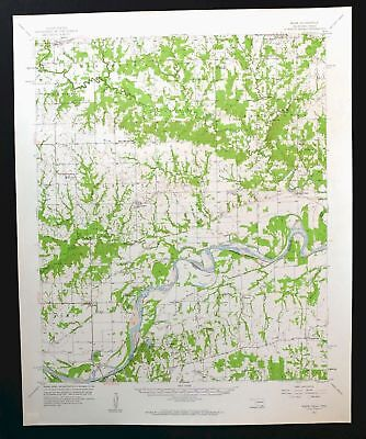 Wade Oklahoma Texas Vintage USGS Topo Map 1957 Albany Red River Topographical