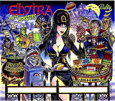 Bally Elvira And The Party Monsters Pinball Machine Translite