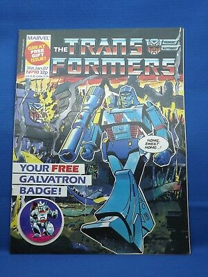 Marvel The Transformers UK Weekly Comic #98  31st Jan 198 with Galvatron Badge