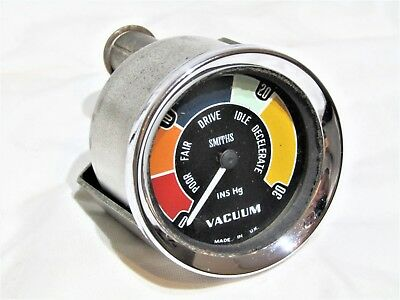 Vintage Smiths Vacuum Gauge Fits Mini Mk1 Cooper S Bmc Lotus Mg Jaguar