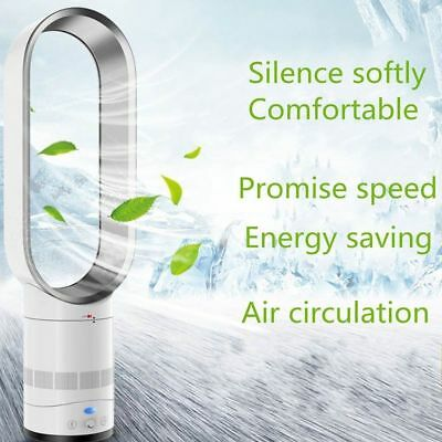 """16"""" Bladeless Fan With Remote Control AirFlow Cooling Fan Low db Home Office UK-"""