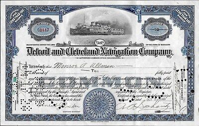 D & C Navigation Co. common stock, issued to Monroe A. Ullman Oct 2, 1925