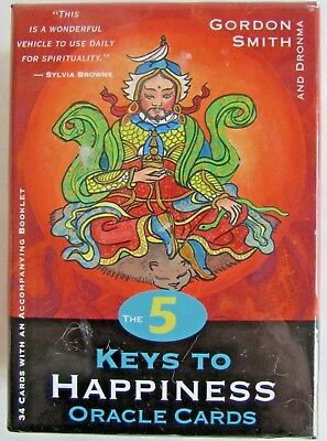 The 5 Keys to Happiness Oracle Cards - Gordon Smith - 34 Card Deck & Book Set