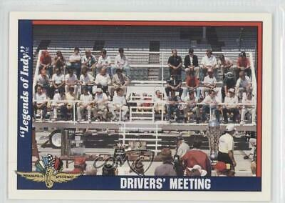 1991 Collegiate Collection Legends of Indy #77 Drivers' Meeting Racing Card