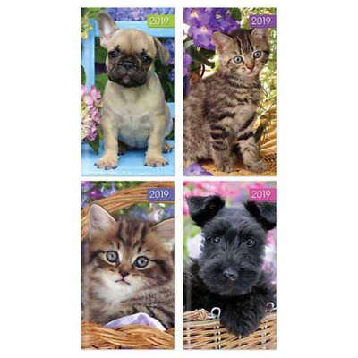 Puppy Dog or Kitten - 2019 Slim Pocket Diary - Choice of Four