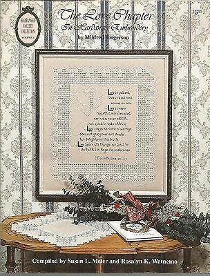 THE LOVE CHAPTER in Hardanger Embroidery by Mildred Torgerson 1993
