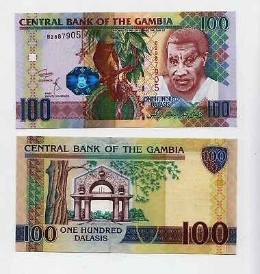Gambia new 100-dalasis Banknote with new sig. (B227c) introduced in 2018