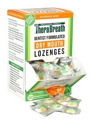 TheraBreath Mouth Wetting Lozenges Mandarin Mint - Bad Breath & Halitosis