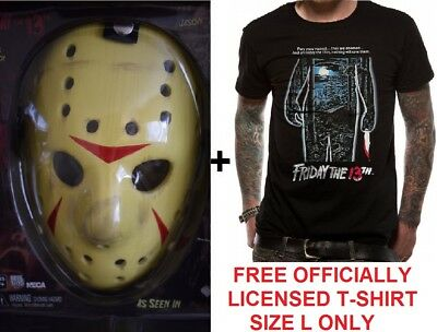 Neca JASON VOORHEES Friday the 13th Part 3 PROP REPLICA MASK +FREE Large T-SHIRT