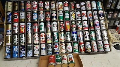 80 foreign  Beer can collection restaurant bar display Mexico German Guinness