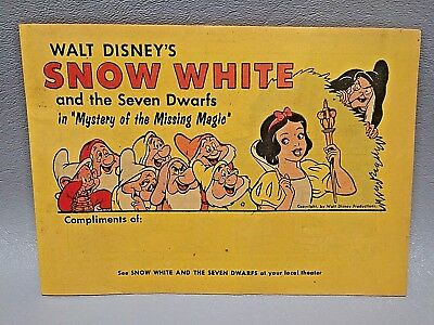 1958 Disney Snow White Comic Book Mystery of Missing Magic full color 7 x 5