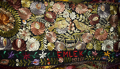 1928 Antique Large Matyo Silk Embroidery or Tapestry
