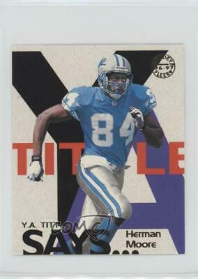 1997 Fleer Goudey YA Tittle Says #15 Herman Moore Detroit Lions Football Card