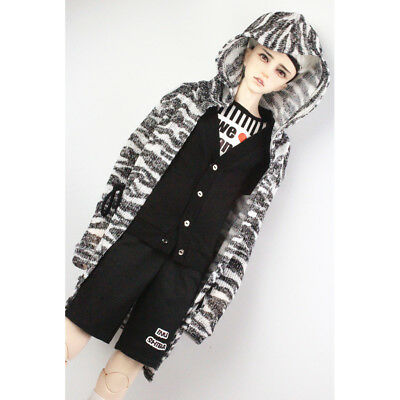 Fashion Hoodie Jacket Knitted Sweater for 70cm Uncle BJD Doll Zebra-stripe