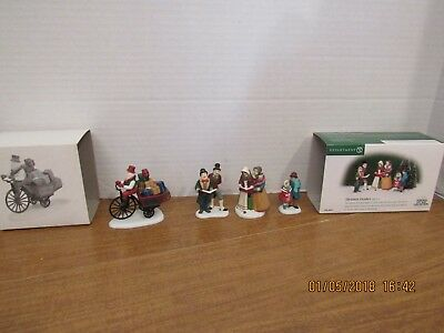 Dept 56 Christmas Carolers #56.58631 & Holiday Deliveries #56371