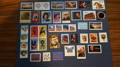 Lot of 40 different  MINT NEVER HINGED US Postage Stamps