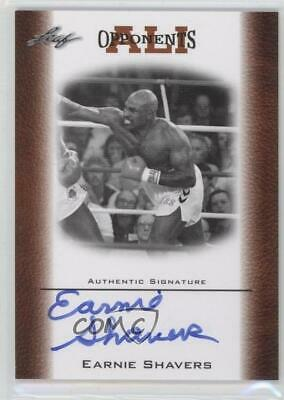 2011 Leaf Ali The Greatest Opponents of Bronze Earnie Shavers #OAU-10 Auto