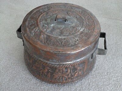 RARE Antique Persian Qajar handmade copper cauldron. Museum quality Persian pot