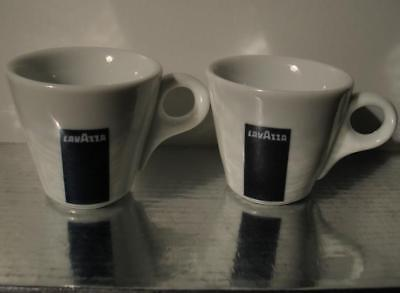 LavAzza Espresso Coffee Demitasse Cup Lot of 2 Logo IPA Italy Comedians Cars