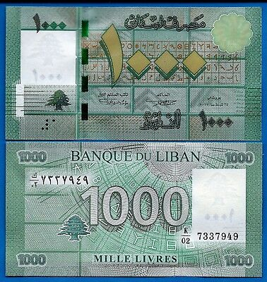Lebanon P-90 1000 Livres Year 2011 Uncirculated Banknote