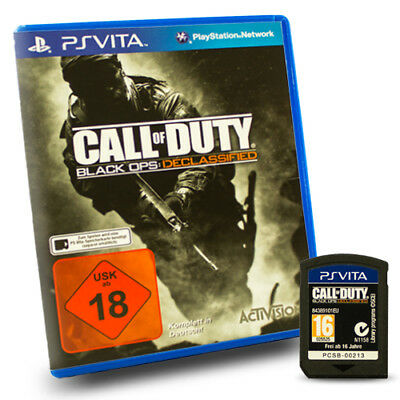 Playstation PS Vita Call of Duty Black Ops Declassified Usk 18 in OVP