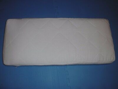 Cradle mattress with fitted cradle sheet