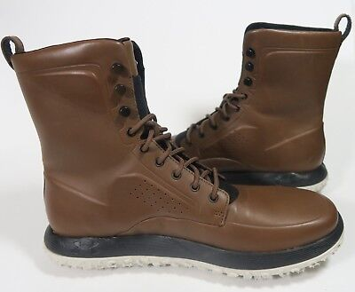 half off bd28b 633fd UNDER ARMOUR UAS RLT Fat Tire Leather Boots Brown Black Size 10 NEW 1297589  792