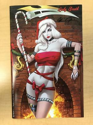 Lady Death Retribution #1 Naughty Candy Cane Variant Cover by Ryan Kincaid