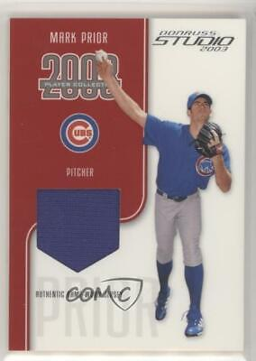 2003 Donruss Studio Player Collection Jerseys/300 Mark Prior Chicago Cubs Card