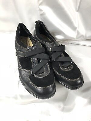 Women's Shoes Supremes Soft Spots Black Leather Marathon Comfort Walking Shoes 10 Narrow Reasonable Price Clothing, Shoes & Accessories