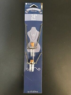 """Blue Moon Beads® Tiny Worlds Fillable Fun ~ Necklace 24"""" (60.96cm) ~ 2 pc"""