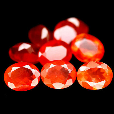 2.13 CT NATURAL 9PCS FIRE ORANGE MEXICO OPAL OVAL 4 X 5 mm.