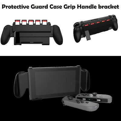 Handle Guard Case Back Shell bracket Grip Protector W/Game Slot for NS Switch