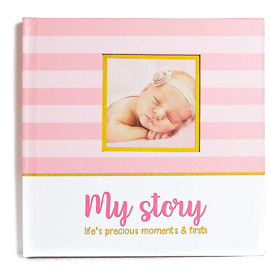 LovelySprouts First Year Baby Memory Book and amp; BabyJournal 3 Color Styles