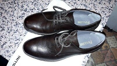 635a7d7f34 SCARPE UOMO POLLINI Vera Pelle Fondo Cuoio Leather Made In Italy Man ...