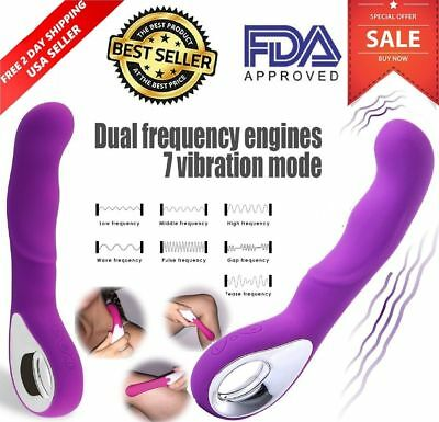 Premium Wand Massager Vibrate USB Rechargeable 9 Speed Magic Cordless Full Body