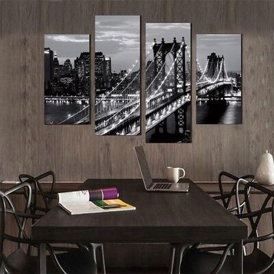 NEW 4 Pcs Modern Wall Paintings New York City Canvas Prints City  Art Wall Decor