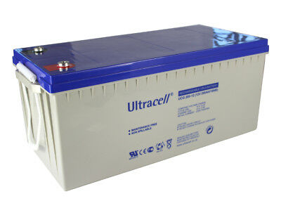 Battery GEL 200ah 12v Ultracell camping car boat UCG200-12 without maintenance