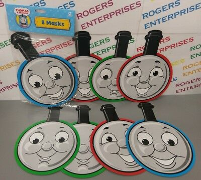 8 x Thomas Tank Engine & Friends Face Masks Birthday Party Fun/Gift Bag Favours