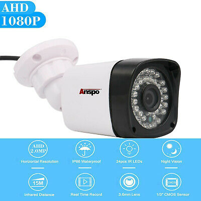 Anspo 1080P AHD CCTV Camera Security System 2MP Outdoor Night Vision Surveillanc