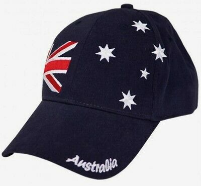 Adult Aussie Flag Australia Day Cap Hat Pk 1