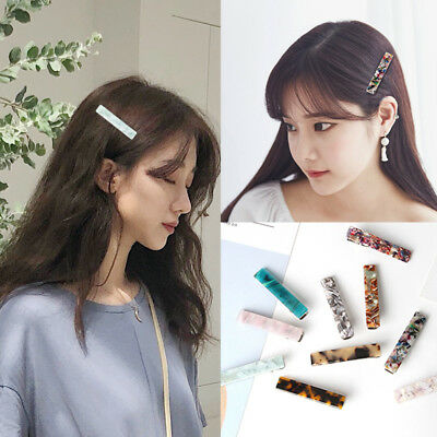 Fashion Resin Acetate Hair Clip Women Girls Headwear Barrettes Hairpins Gifts